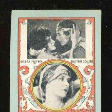 Coleccionismo Cromos antiguos: CROMO FICHA DE DOMINO CON ACTORES DE CINE: LIL DAQOVER, G.NISSEN, B.COLLIER. DOS-TRES. ELIXIR PUJOL. Lote 192088107