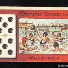 Coleccionismo Cromos antiguos: CROMO FICHA DE DOMINO SPORT DE DEPORTES NUM. 26: WATER POLO. DOBLE CINCO. PERFUMERIA GRAU. Lote 192088596