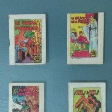 Coleccionismo Cromos antiguos: LOTE 4 CUENTOS COLECCIÓN TESOROS DE CUENTOS DE BRUGUERA.. Lote 192190831