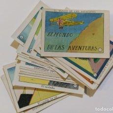 Coleccionismo Cromos antiguos: EL MUNDO DE LAS AVENTURAS-COLECCION COMPLETA DE 25 CROMOS-VER FOTOS-(V-18.802). Lote 192257601