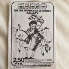 Coleccionismo Cromos antiguos: MARCO 1 SOBRE SIN ABRIR 1977 FHER DE LOS APELINOS A LOS ANDES . Lote 192410790