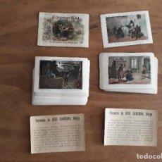 Coleccionismo Cromos antiguos: DON QUIJOTE DE LA MANCHA COLECCION COMPLETA PARTE 1 Y 2 ( 50 CROMOS CADA UNA ) PUBL. JOSE CARDONA. Lote 192537663