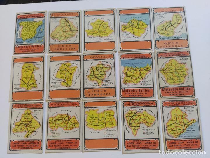 Coleccionismo Cromos antiguos: MAPAS PROVINCIAS ESPAÑOLAS-COLECCION DE 50 CROMOS-PUBLICIDAD VARIOS CHOCOLATES-VER FOTOS-(V-18.842) - Foto 4 - 192587285