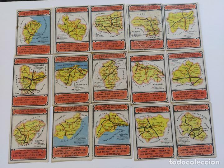 Coleccionismo Cromos antiguos: MAPAS PROVINCIAS ESPAÑOLAS-COLECCION DE 50 CROMOS-PUBLICIDAD VARIOS CHOCOLATES-VER FOTOS-(V-18.842) - Foto 6 - 192587285
