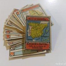 Coleccionismo Cromos antiguos: MAPAS PROVINCIAS ESPAÑOLAS-COLECCION DE 50 CROMOS-PUBLICIDAD VARIOS CHOCOLATES-VER FOTOS-(V-18.842). Lote 192587285