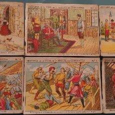 Colecionismo Cromos antigos: 18 CROMOS COLECCIÓN HISTORIA DE LA VIDA DE D. MIGUEL DE CERVANTES - CHOCOLATES TORRAS. Lote 192694482