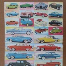 Coleccionismo Cromos antiguos: HOJA DE 40 CROMOS NUEVOS SIN CORTAR DE AUTOMOVILES DE FHER DE 1958. Lote 192795233