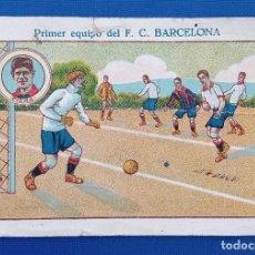 Coleccionismo Cromos antiguos: CROMO CHOCOLATES ROYAL LA PAJARITA ALBACETE. PRIMER EQUIPO DEL FC BARCELONA PIERA. Lote 192807253