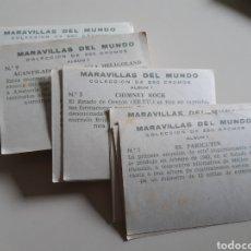 Coleccionismo Cromos antiguos: LOTE DE 117 CROMOS MARAVILLAS DEL MUNDO EDITORIAL BRUGUERA AÑO 1956 ÁLBUM 1. Lote 192891137