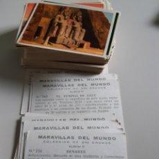 Coleccionismo Cromos antiguos: LOTE DE 51 CROMOS MARAVILLAS DEL MUNDO EDITORIAL BRUGUERA AÑO 1956 ALBUM 2. Lote 192891462