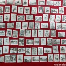 Coleccionismo Cromos antiguos: 80 FOTOTIPIAS PINTURA PINTORES ESPAÑOLES S.XIX. J.THOMAS CROMOS. CERILLAS. Lote 194002597