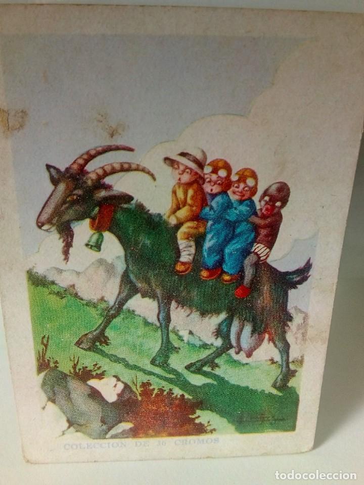 Coleccionismo Cromos antiguos: AVENTURAS DE PAQUITO Y CARBONILLA.- 13 CROMOS. - Foto 7 - 194059780