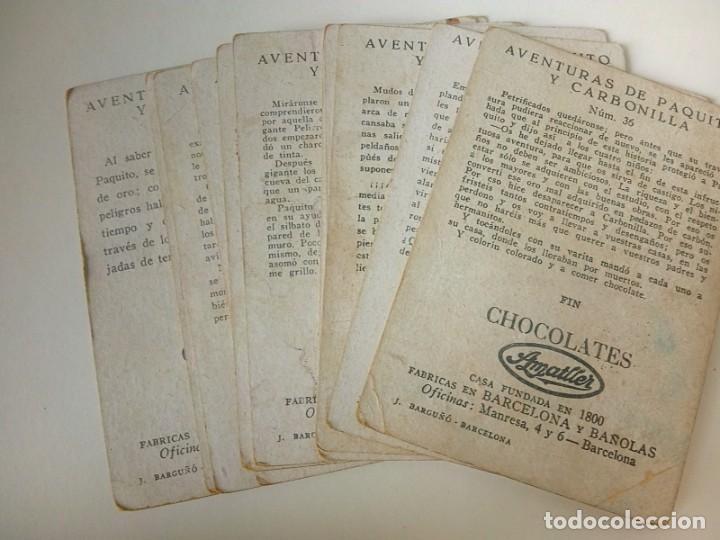 Coleccionismo Cromos antiguos: AVENTURAS DE PAQUITO Y CARBONILLA.- 13 CROMOS. - Foto 14 - 194059780