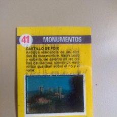 Coleccionismo Cromos antiguos: BIMBOVISION 1 MONUMENTOS Nº 41. Lote 194294292