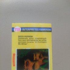 Coleccionismo Cromos antiguos: BIMBOVISION 1 INTERPRETES FAMOSOS Nº 118. Lote 194299121