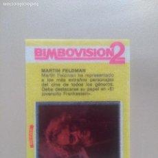 Coleccionismo Cromos antiguos: BIMBOVISION 2 FAMOSOS DEL CINE Nº 18. Lote 194299761