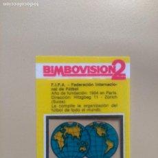 Coleccionismo Cromos antiguos: BIMBOVISION 2 FUTBOL Nº 1 . Lote 194300143
