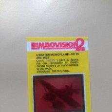 Coleccionismo Cromos antiguos: BIMBOVISION 2 AVIONES Nº 18. Lote 194301700