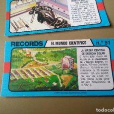 Coleccionismo Cromos antiguos: BIMBO RECORDS Nº 51. Lote 194308891