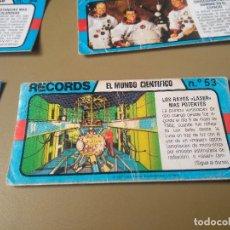 Coleccionismo Cromos antiguos: BIMBO RECORDS Nº 53. Lote 194309298
