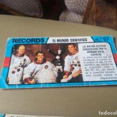 Coleccionismo Cromos antiguos: BIMBO RECORDS Nº 57. Lote 194309951