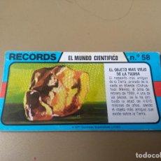 Coleccionismo Cromos antiguos: BIMBO RECORDS Nº 58. Lote 194310097