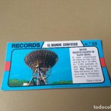 Coleccionismo Cromos antiguos: BIMBO RECORDS Nº 59. Lote 194310210