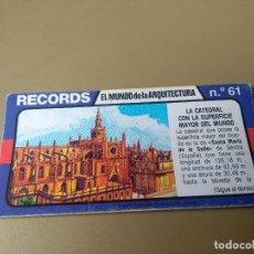 Coleccionismo Cromos antiguos: BIMBO RECORDS Nº 61. Lote 194310656