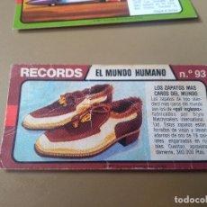Coleccionismo Cromos antiguos: BIMBO RECORDS Nº 93. Lote 194316161