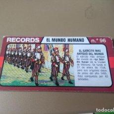 Coleccionismo Cromos antiguos: BIMBO RECORDS Nº 96. Lote 194316762