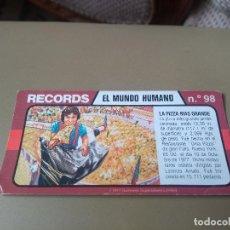 Coleccionismo Cromos antiguos: BIMBO RECORDS Nº 96. Lote 194316907