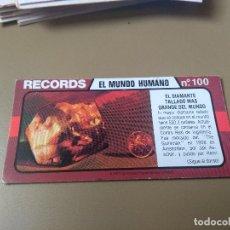 Coleccionismo Cromos antiguos: BIMBO RECORDS Nº 100. Lote 194317302