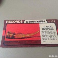 Coleccionismo Cromos antiguos: BIMBO RECORDS Nº 102. Lote 194317426