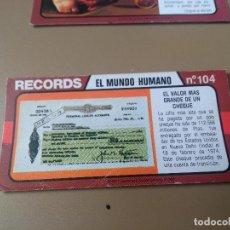 Coleccionismo Cromos antiguos: BIMBO RECORDS Nº 104. Lote 194317775