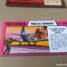 Coleccionismo Cromos antiguos: BIMBO RECORDS Nº 106. Lote 194317980