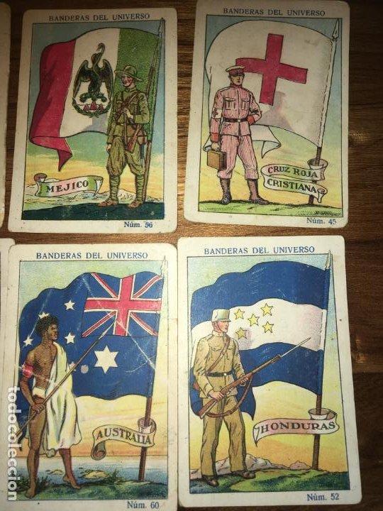 Coleccionismo Cromos antiguos: Chocolates amatller Barcelona y Bañolas, 8 cromos banderas del universo, Cruz roja,Argentina... - Foto 2 - 194357037