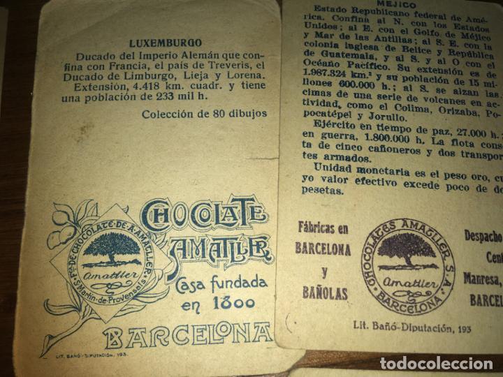 Coleccionismo Cromos antiguos: Chocolates amatller Barcelona y Bañolas, 8 cromos banderas del universo, Cruz roja,Argentina... - Foto 4 - 194357037