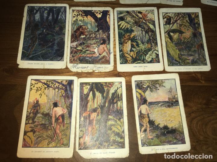 Coleccionismo Cromos antiguos: Chocolates amatller Barcelona ,Tarzan de los monos 17 cromos, señales de uso - Foto 3 - 194357112