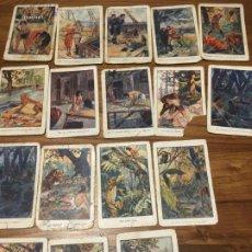Coleccionismo Cromos antiguos: CHOCOLATES AMATLLER BARCELONA ,TARZAN DE LOS MONOS 17 CROMOS, SEÑALES DE USO. Lote 194357112