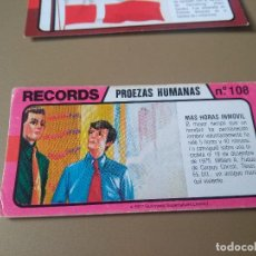 Coleccionismo Cromos antiguos: BIMBO RECORDS Nº 108. Lote 194378258
