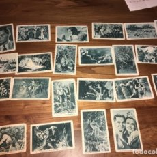 Coleccionismo Cromos antiguos: TARZÁN Y SU COMPAÑERA, CUPONES LA ACCIÓN,TARRAGONA. 23 CROMOS, HUECOGRABADO MUMBRÚ. Lote 194378340