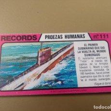 Coleccionismo Cromos antiguos: BIMBO RECORDS Nº 111. Lote 194378565