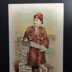 Coleccionismo Cromos antiguos: CROMO PUBLICITARIO EL NIÑO TURCO. EMULSION DE SCOTT. Lote 194505173