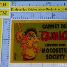 Coleccionismo Cromos antiguos: CROMO CROMITO DE CHUCHERÍAS DULCES CHOCOLATINAS. BOLLYCAO. BOLLY CARNET. QUILLO. Lote 194538908