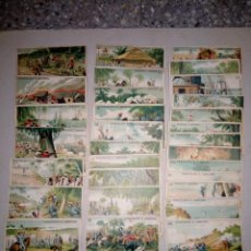Coleccionismo Cromos antiguos: COLECCIÓN DE CROMOS GUERRA DE CUBA, CHOCOLATE JUNCOSA CASI COMPLETA FALTAN 2 CROMOS.. Lote 194570410