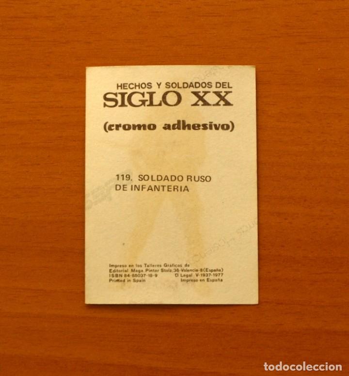 Coleccionismo Cromos antiguos: Hechos y soldados del Siglo XX - Nº 119 Adhesivo Plateado- Editorial Maga 1979 - Nunca pegado - Foto 2 - 194580267