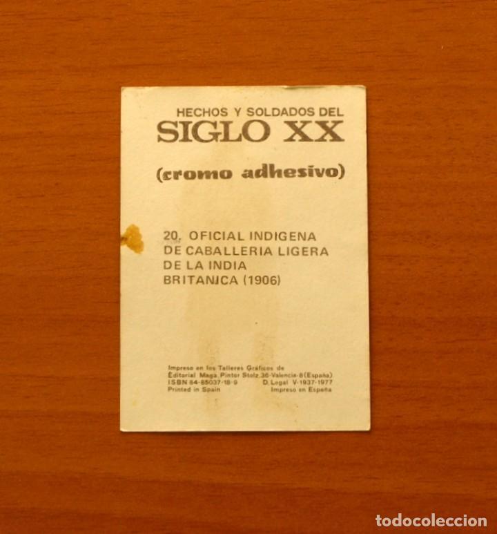 Coleccionismo Cromos antiguos: Hechos y soldados del siglo XX - Maga 1979 - nº 20 Plateado - Adhesivo Nunca pegado - Foto 2 - 194580362