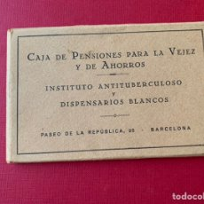 Coleccionismo Cromos antiguos: BLOC DE 12 POSTALES DE CAJA DE PENSIONES PARA VEJEZ Y AHORROS. Lote 194585930