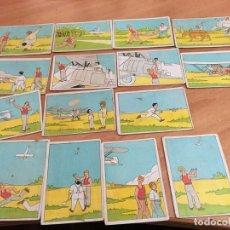 Coleccionismo Cromos antiguos: LOTE 15 CROMOS MANUAL PARA SER AVIADOR SERIE B Nº 1 AL 15 (CHOCOLATES JAIME BOIX) (CRIP6). Lote 194635787