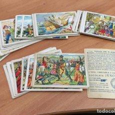 Coleccionismo Cromos antiguos: HISTORIA DE CATALUNYA LOTE 39 CROMOS DIFERENTES (CHOCOLATES JUNCOSA) (CRIP6). Lote 194637378